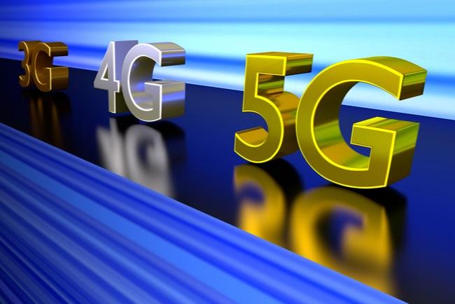 3G, 4G och 5G-figurer på rad