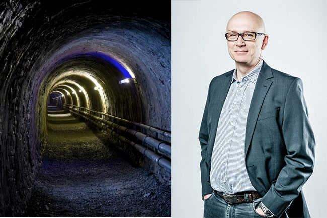 underjordisk tunnel och Peter Burman