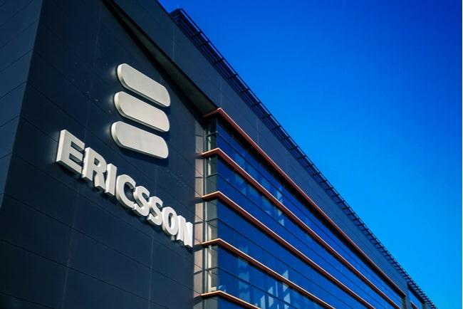 Ericssons logga på fasad